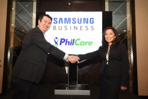 Chad Sotelo of Samsung and Noemi Azura of PhilCare