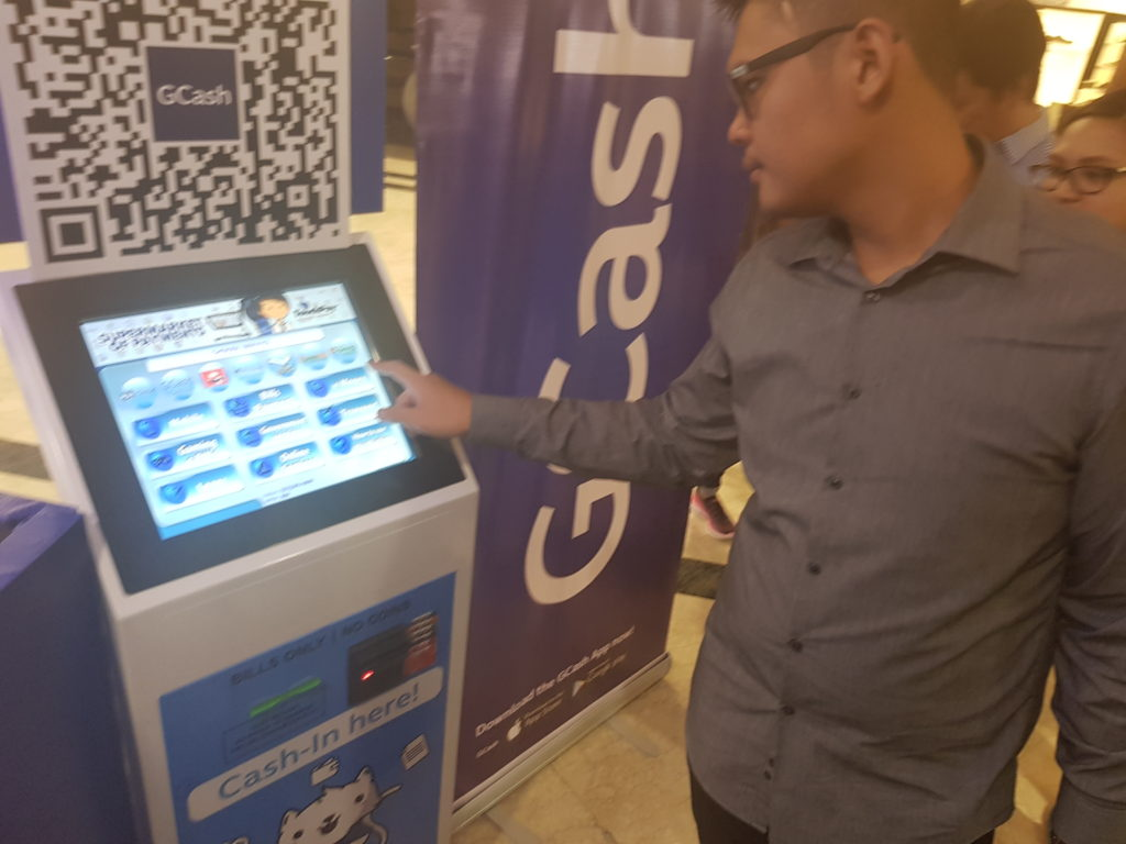 Load your credits at any GCash kiosks located in Ayala Malls