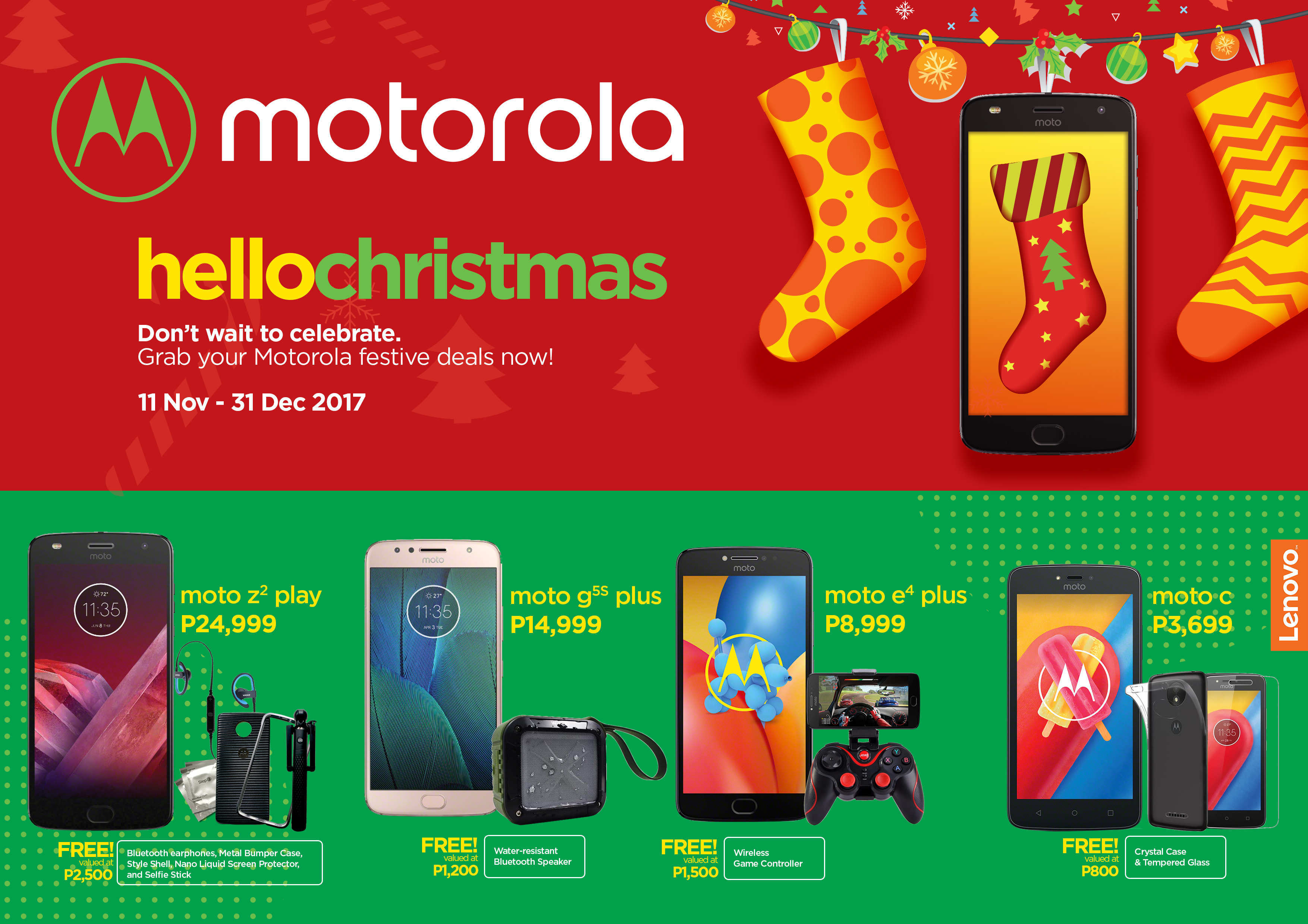 HelloChristmas! Celebrate the season with exciting freebies from Motorola smartphones