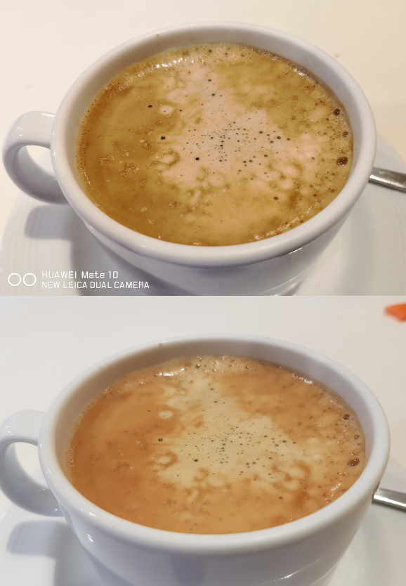 camera comparison between Mate 10 and Note8