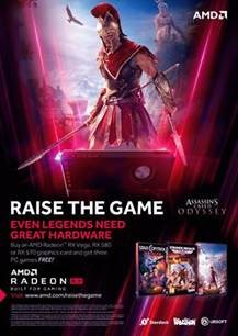 Raise your game with the purchase of a Radeon RX Vega, RX 580 or RX