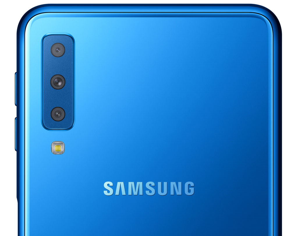 Samsungs First Triple Camera Smartphone The Galaxy A7 In Stores Samsung As Tech Giants With A Very Accessible Price Point Allows Users To Capture More Sights And Details
